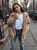 ByChicStyle Autumn Warm Teddy Bear Coat Women Thick Faux Fur Jacket