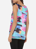 ByChicStyle Scoop Neck Dacron Assorted Colors Printed Sleeveless-t-shirt - Bychicstyle.com