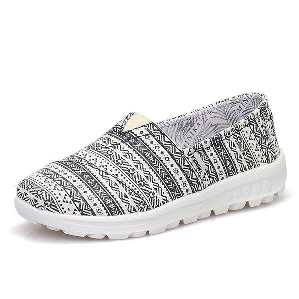Casual Pattern Colorful Canvas Vintage Casual Flat Shoes