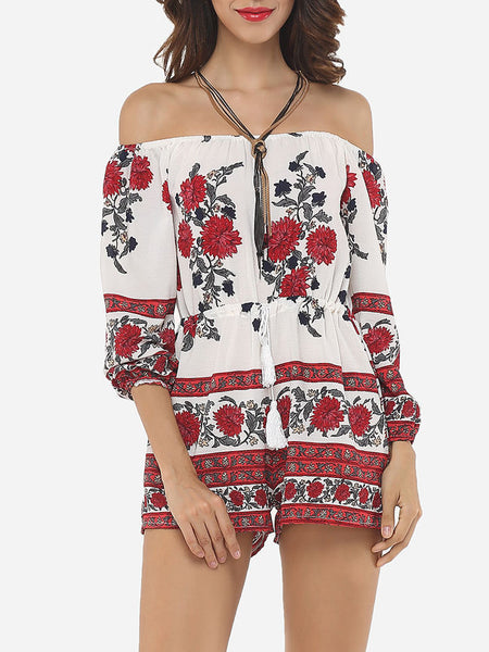 Floral Printed Captivating Rompers - Bychicstyle.com