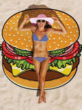 ByChicStyle Casual Hamburger Sweet Fantasy Beach Blanket