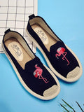 ByChicStyle Embroidered Canvas Fisherman Flats