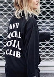 ByChicStyle Black Letter Drawstring Cap Hooded Homecoming Long Sleeve Casual Boyfriend Sweatshirts