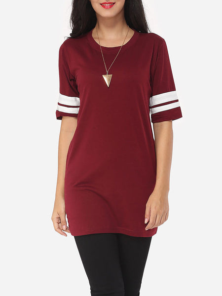 Exquisite Round Neck Short-sleeve-t-shirt - Bychicstyle.com