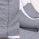 ByChicStyle Grey Plain Condole Belt Sports Long Jumpsuit