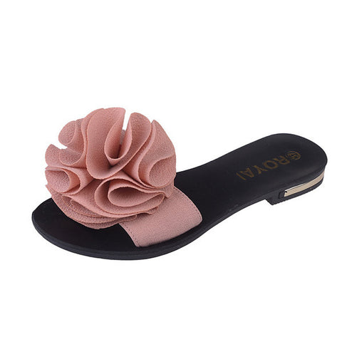 Casual Flower Clip Toe Casual Beach Flat Flop Flips For Women