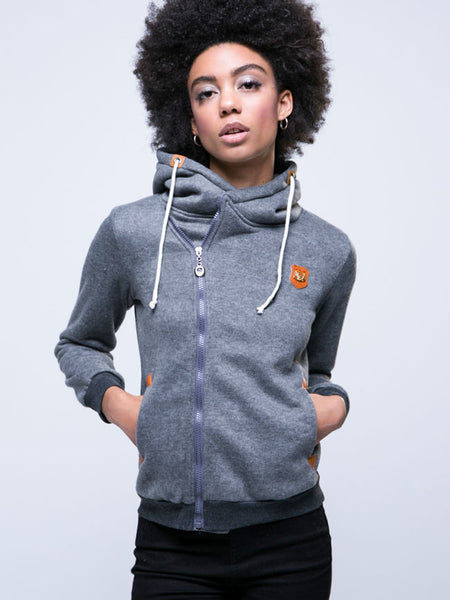 Casual Plain With Pockets With Zips Hoodie
