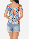 ByChicStyle Scoop Neck Cotton Printed Short-sleeve-t-shirt - Bychicstyle.com