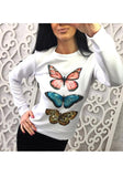 ByChicStyle White Animal Print Round Neck Casual T-Shirt