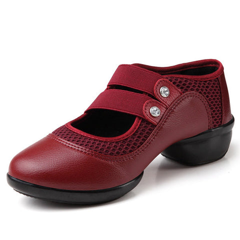 Casual Pure Color Soft Sole Elastic Mesh Casual Shoes For Women