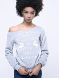 ByChicStyle Snowflake And Elk Printed Christmas Stylish Sweatshirt - Bychicstyle.com