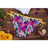 ByChicStyle Yellow Floral Tie Back Sleeveless Fashion Slim Swimwear