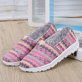 ByChicStyle Casual Pattern Colorful Canvas Vintage Casual Flat Shoes
