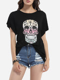 ByChicStyle Round Neck Cotton Assorted Colors Printed Short-sleeve-t-shirt - Bychicstyle.com