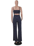 ByChicStyle Women Fashion Sexy Summer Party Stripe Sleeveless Jumpsuit Romper Top Outfits
