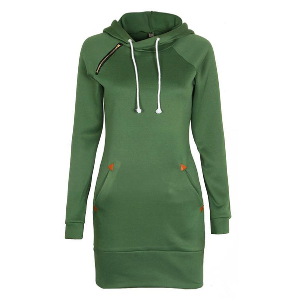Women Fashion Hoodies Sweatshirt Long Sleeve Zip Sweatshirts Feminino Winter Moleton Pullovers