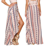 ByChicStyle Casual Summer Vintage Boho High Waist Floral Printed Long Beach Maxi Skirts
