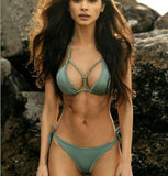 Streetstyle  Casual Sexy Beach Swimwear Women Swimsuit Bathing Suit Brazilian Bikini Set