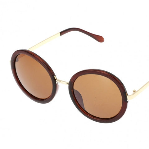 Hot Fashion Unisex Vintage Style Plastic Frame Round Lens UV Protective Casual Outdoor Sunglasses