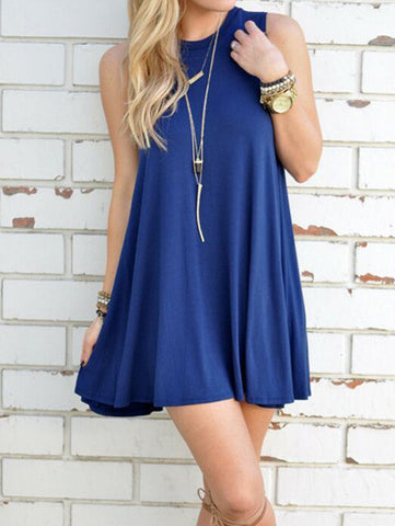 Casual Fashion Over Size Casual Sleeve Less Dress