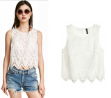 ByChicStyle Summer Women Blouse Embroidery Hollow Vest Casual Blouse Tops