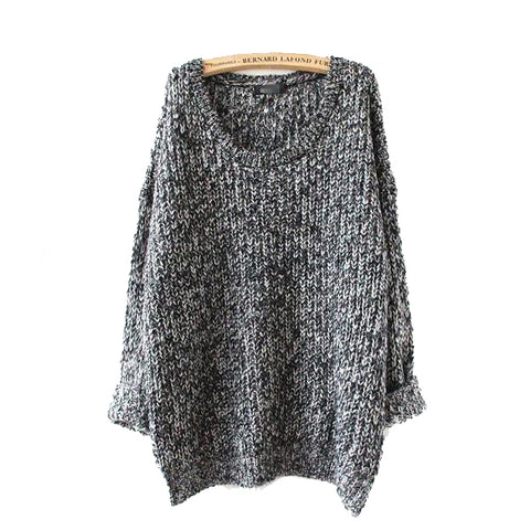 Long Sleeve Jumpers Loose Knitted Pullover Sweater