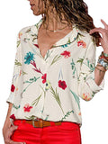 ByChicStyle Women Blouses Fashion Long Sleeve Turn Down Collar Office Shirt Leisure Blouse Shirt Casual Tops Plus Size Blusas Femininas