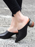 ByChicStyle Pointed Special Heel Mules&Slides