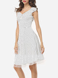 ByChicStyle Patchwork Polka Dot Delightful Sweet Heart Skater-dress - Bychicstyle.com