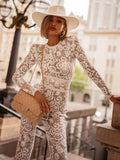 ByChicStyle Pretty Lace Long Sleeves Jumpsuits