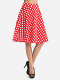 ByChicStyle Casual Polka Dot Lovely Midi-skirt