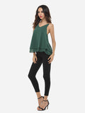ByChicStyle Casual Plain Chain Racerback Charming V Neck Sleeveless-t-shirt
