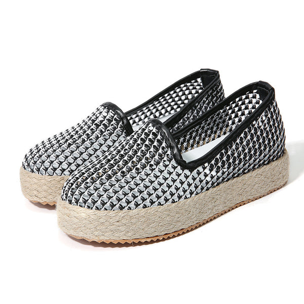 Casual Hollow Out Slip On Platform Casual Shoes