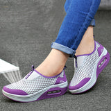 ByChicStyle Casual Mesh Platform Breathable Rocker Sole Casual Shoes