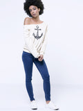ByChicStyle Colorful One Shoulder Printed Long-Sleeve-T-Shirt - Bychicstyle.com