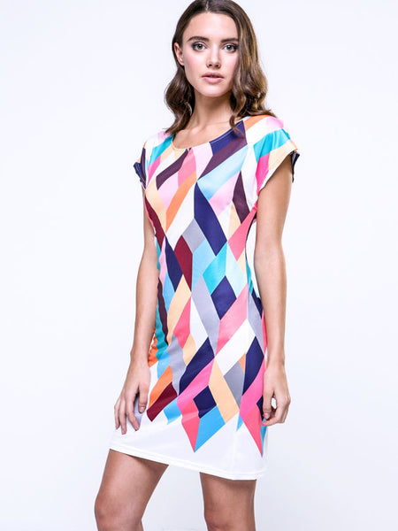 Colorful Block Chic Shift Dress - Bychicstyle.com