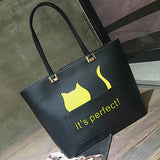 ByChicStyle Casual Women Cat Cartoon Pattern Lovely Style Shoulder Bag Handbag