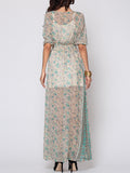 ByChicStyle Bohemian Split Chic V Neck Maxi-dress - Bychicstyle.com