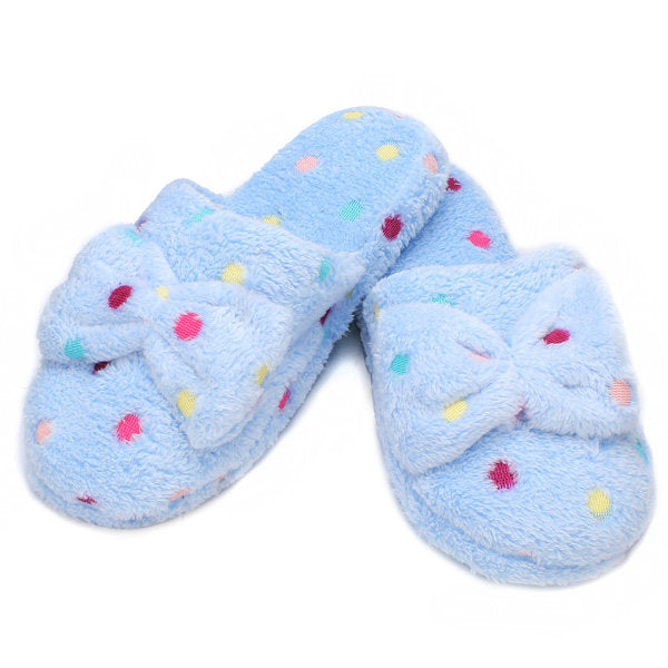Casual Cute Bowknot Cotton Slippers