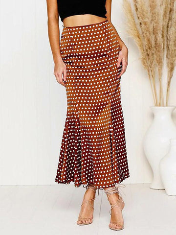 Polka-dot Empired Leisure Skirt