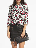 ByChicStyle turn Down Collar Single Breasted Leopard Printed Blouse - Bychicstyle.com