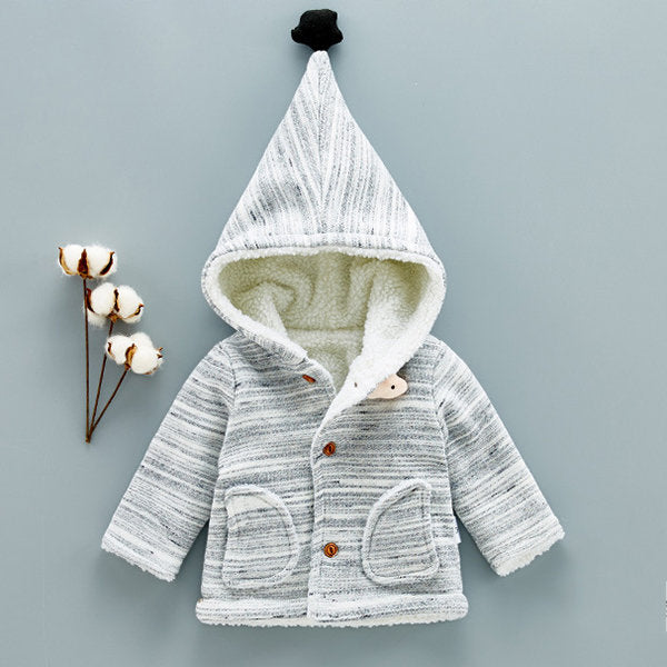 Casual Warm Winter Newborn Kid Baby Infant Boys Girls Outwear Coat