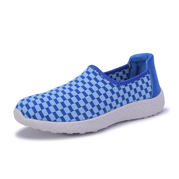 Casual Color Block Woven Flat Slip On Light Casual Shoes