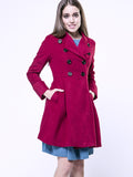 ByChicStyle Casual Double Breasted Lapel Velvet Plain Coat