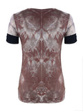 ByChicStyle Splash-ink Printed Designed Round Neck Short-sleeve-t-shirt - Bychicstyle.com
