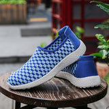 ByChicStyle Casual Color Block Woven Flat Slip On Light Casual Shoes