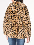 ByChicStyle Hooded Leopard Printed Fluffy Coat - Bychicstyle.com