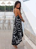ByChicStyle Asymmetry Floral  V-Neck Maxi Dress