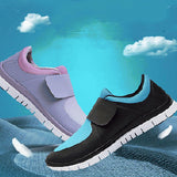 ByChicStyle Casual Large Size Mesh Breathable Hook Loop Flat Trainers