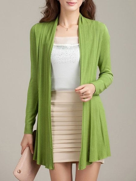 Modern Plain Colorful Cardigan - Bychicstyle.com